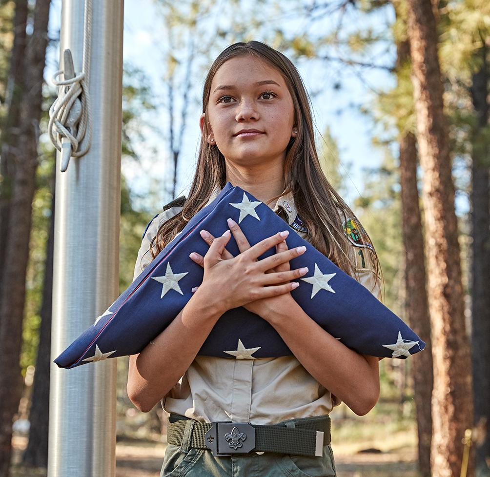 Scouts BSA girl