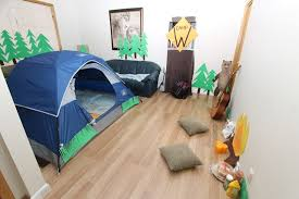 campsite at home example